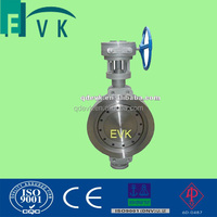 Wafer type ss304 butterfly valve with worm gear