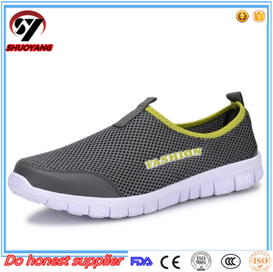 2017 China Hot Sale Soft Breathable Casual Shoes Cheap Stylish Men Mesh Shoes