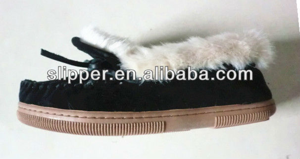ladies indoor slippers/ ladies moccasin slippers/ ladies 2013 casual shoes