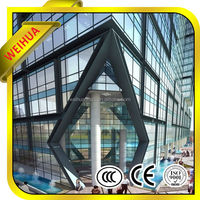 Building glass, 6mm Tempered Glass Wall/