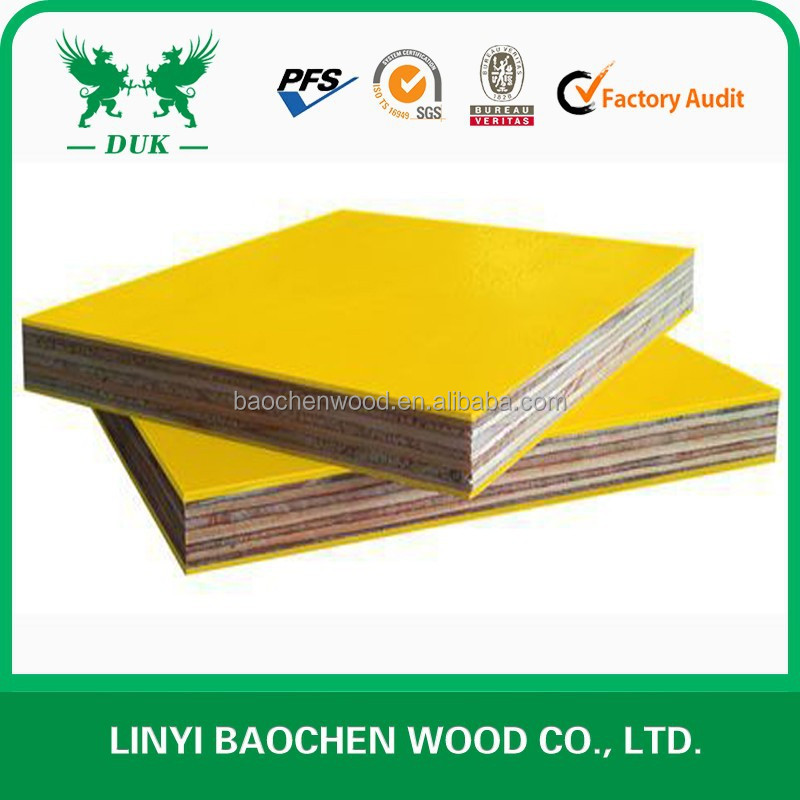 Exterior Usage Euro Standard PP Plastic Film Coated Plywood