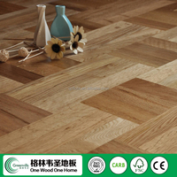 3 ply prefinished art parquet oak engineered wood flooring