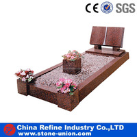 China polished brown granite monuments, granite graves tombs