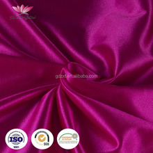 Wholesale 2 way stretched polyester spandex lycra silk satin fabric