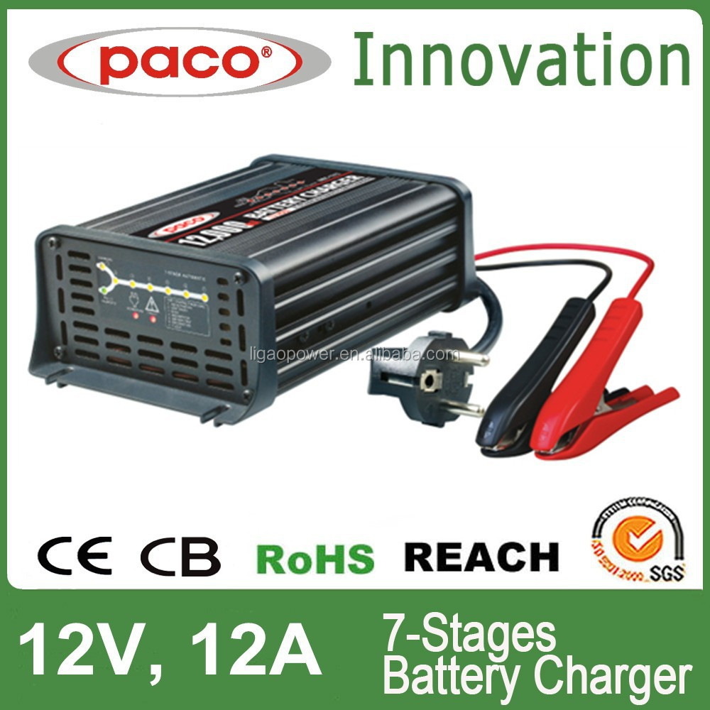 Dynamo charger car battery 12A 12V 7 stage automatic charging with CE,CB,RoHS certificate