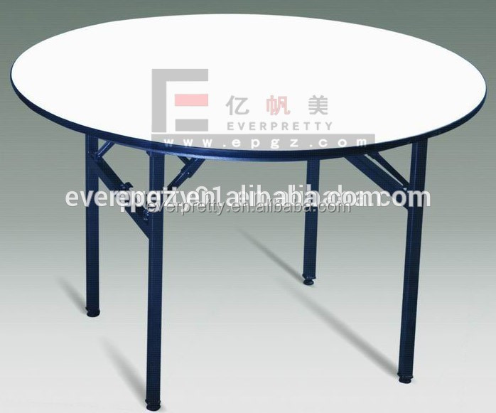 Event wedding dining tables, reception center catering table, wood round folding dining table