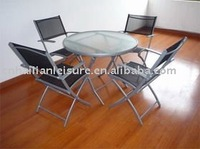 garden glass furniture set