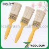 Varnished wooden handle paint brush,taper filament paint brush,roof paint brush