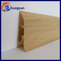 Lightweight Wood Grain PVC Skirting Board for Walls Panels