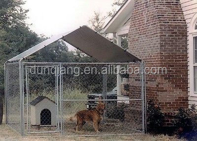 Dog House Cage 10 x 10 Kennel Cover Shade Shelter Outdoor Pen Pet Canopies New