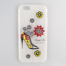 fashionable high heels colorful tpu wire drawing phone case For Pantech Burst