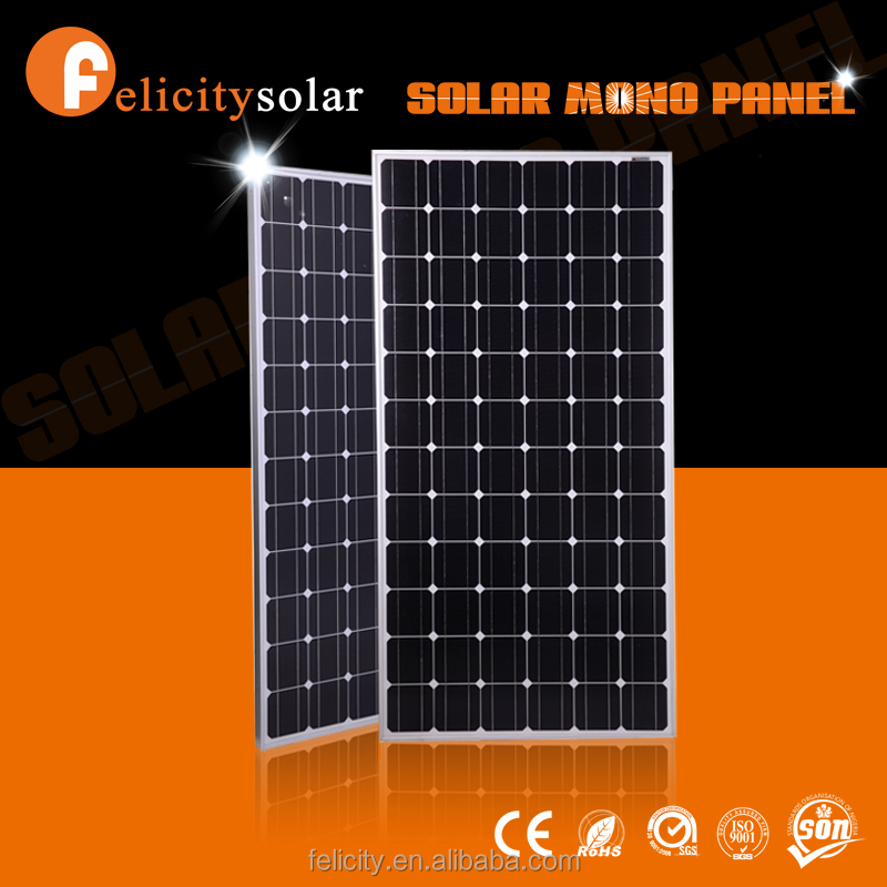 A grade cell monocrystalline silicon solar module 200w 24v in good quality for home system use