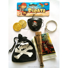 Wholesale Pirate Party supplies Halloween kids pirate telescope gun sword sets HH-0298