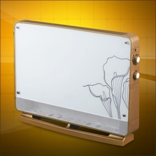 decorative electric wall glass panel convector heater