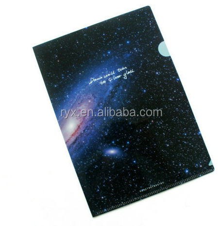 plastic printed PP L shape A4 size file folder