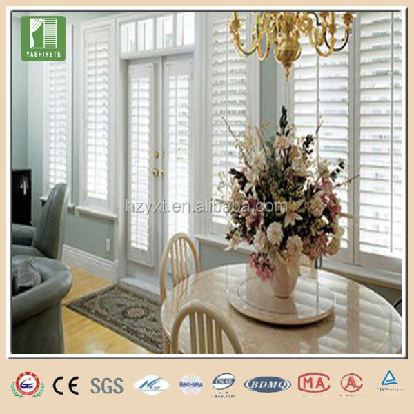 Canopy faux wood blinds interior window shutters