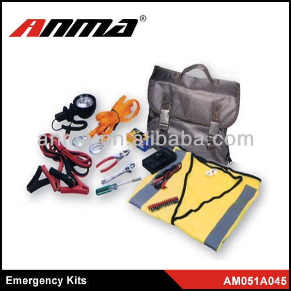 emergency kit for car/First aid kit car emergency kit/car emergency tool kit with air compressor