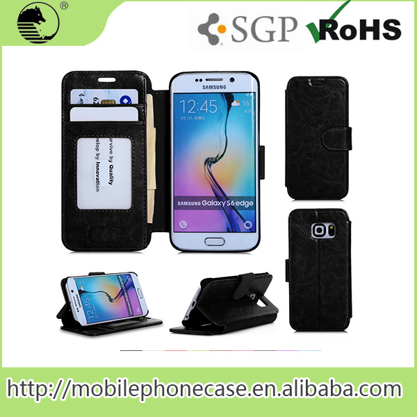 For Samsung Galaxy S6 Edge Cover Case with card holder