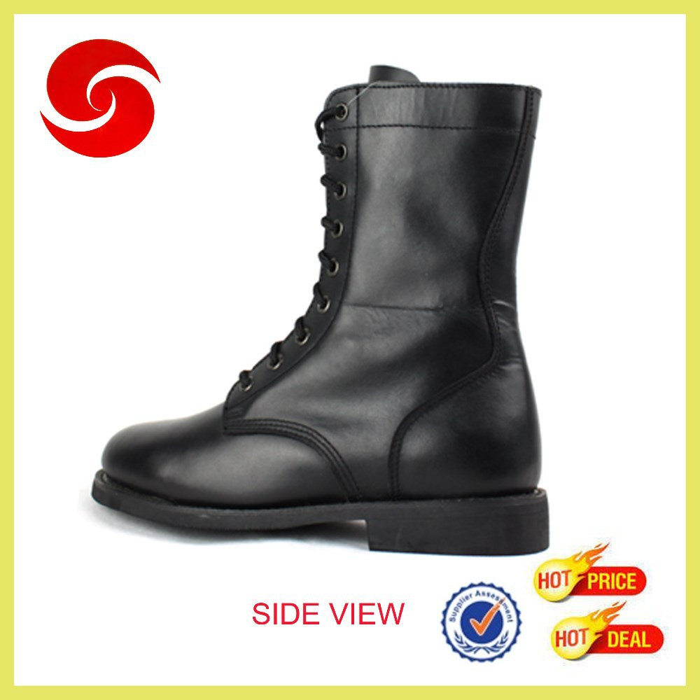 factory supply Hot Cheap Wholesale Men Military Boot black leather boot genuine leather boot