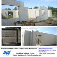 Interior partition eps with cement core composite sandwich wall panel