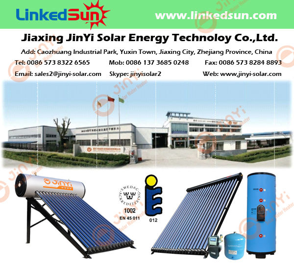 30 Tube Solar Keymark EN12975 Heat Pipe Vacuum Solar Collector China for Tap Hot Water and Floor Room Heating and Radiators