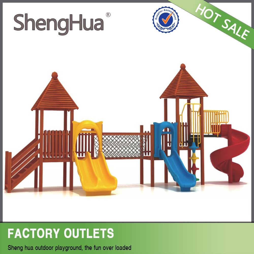 Hot sale eco-friendly kids wooden playground equipment