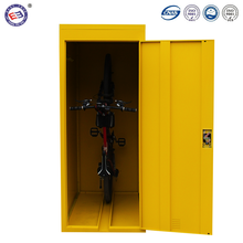 Outdoor bike storage locker steel secure parking bicycle locker