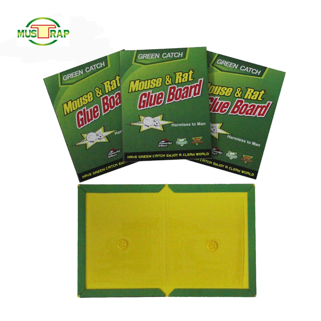Mustrap Pest Rodent Rat Mice Adhesive Mouse Glue Trap Pest Control Cage Bait