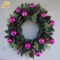 Christmas decorations of plastic christmas garland
