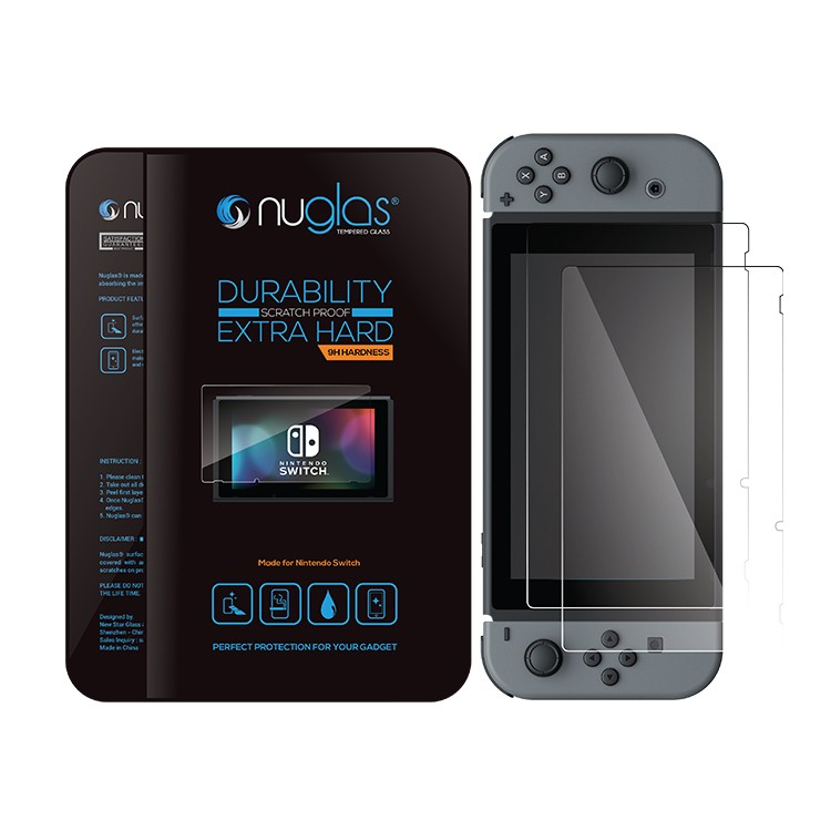 Nuglas Brand 0.33mm 9h premium tempered glass for Nintendo Switch Screen Protector