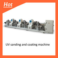 Linear sanding and UV Roller coating machine