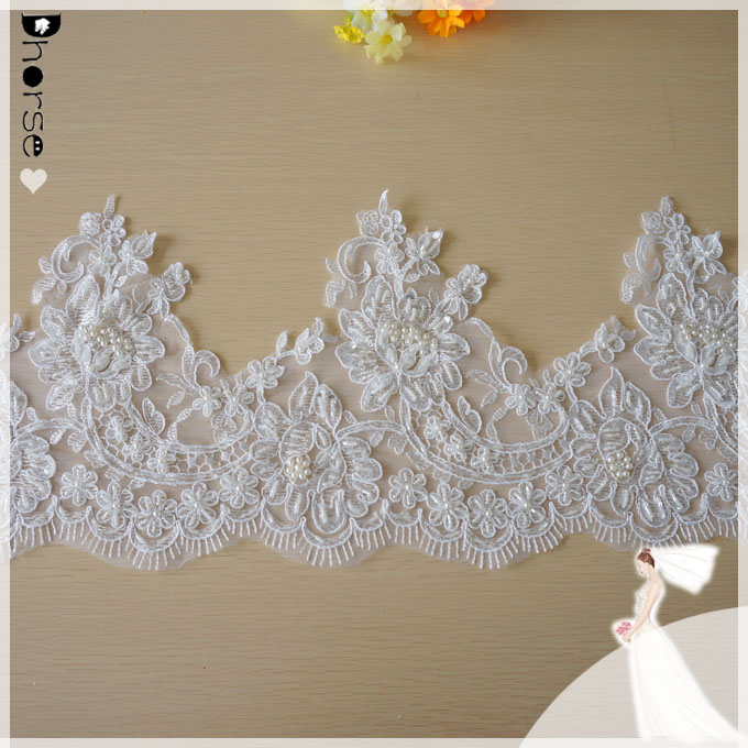 Cream Polyester  Lace Edging