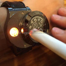 free sample factory Military USB Lighter Watch Casual Wristwatch with Windproof Flameless Cigarette Cigar Lighter watch