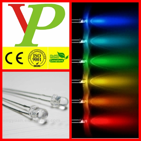 high brightness 1.5v 3mm led diode