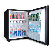 GRT-XC40 Solid door 40L black mini bar fridge