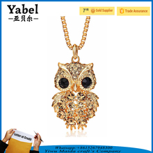 Best sale gold plating jewelry sets owl diamond korea fashion necklace