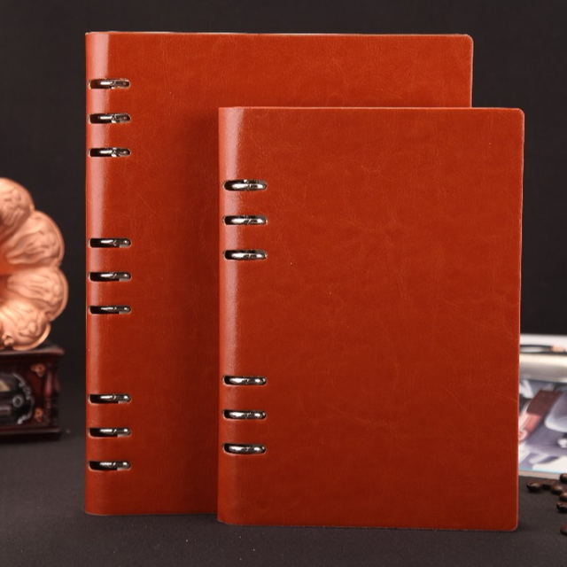 china stationery product wholesale custom A5 leather bound executive note book notebook