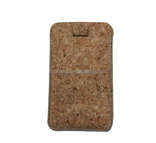 Eco friendly cork material mobile phone case for iphone or Samsung etc funky mobile phone case