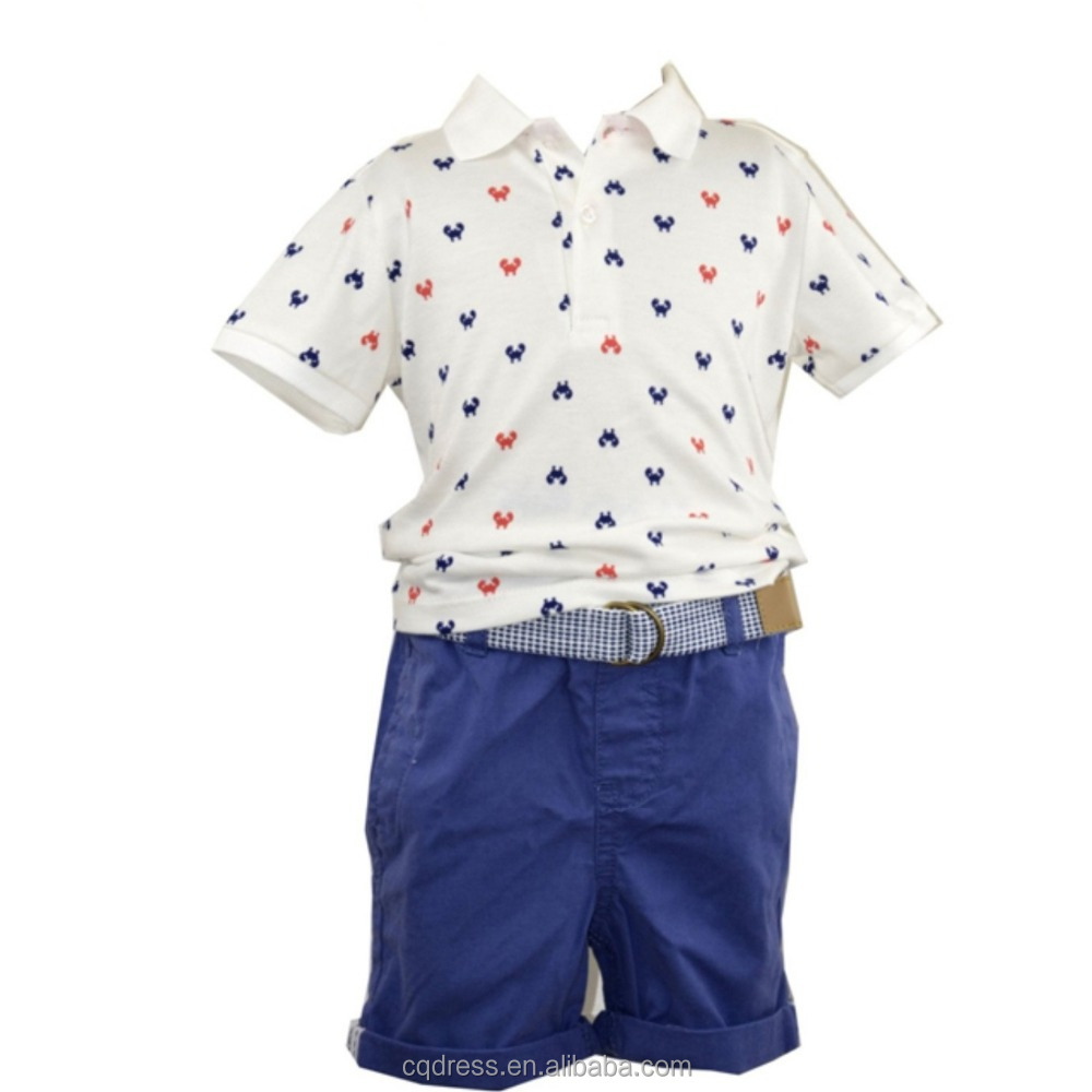 2018 New Design Casual Polo Short Kids Set