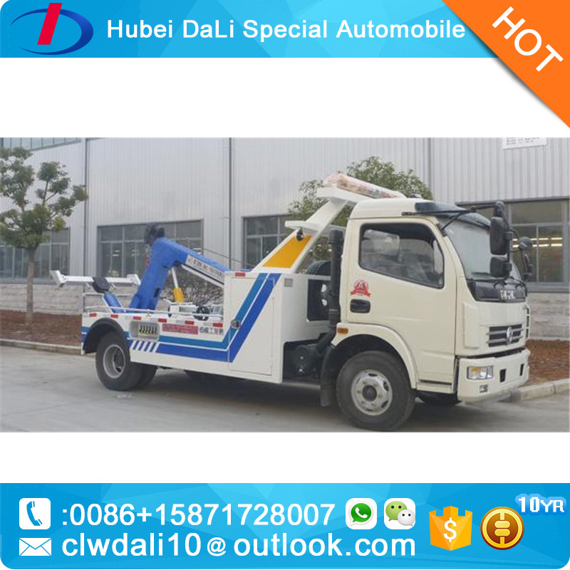 CN Emergency Car Carrier slide bed tow truck 4 ton Flatbed Recovery Road rescue truck Customized one drive two car