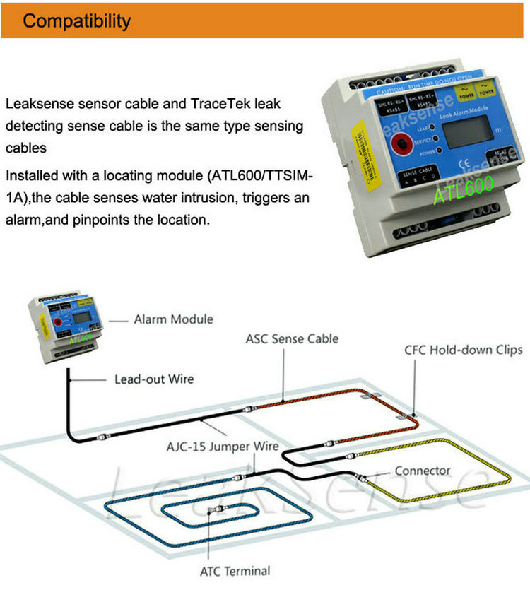 Water Leak Detector Module For Water Alarm Location System
