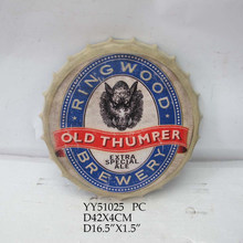 OLD THUMPER beer cap custom printing metal plate for home, coffee shop and bar decoration