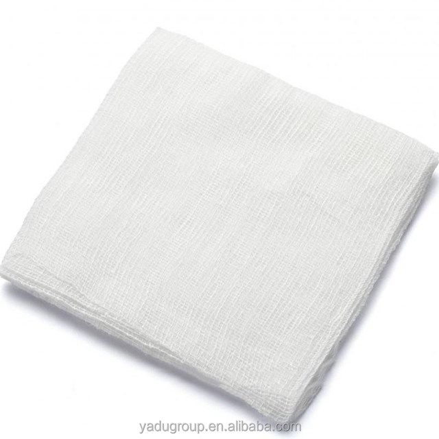 Disposable Absorbent Gauze Swabs With X-ray Detectable Thread