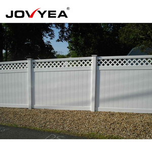 Easy To Install Cheap Plastic Vinyl Fence Privacy Garden Fence