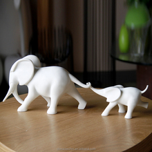 Decorative figurine polyresin white elephants home decoration accessory