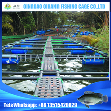 Square HDPE Floating Cages for Barramundi Fish Farm