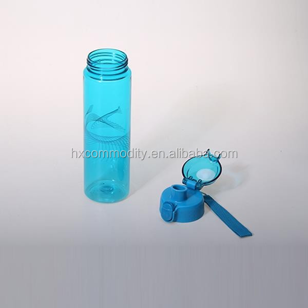600ML Creative design students plastic water bottle with handle
