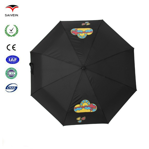 2015 patent new invention hot in China wholesale market 21 inch 8 panel color changing umbrella
