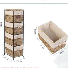The metal frame Woven Storage Box&Basket Iron art cane Corn Rope Woven Gift Basket