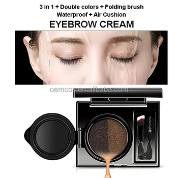 Alibaba bestselling air cushion cosmetic waterproof eyebrow cream with 2 colors